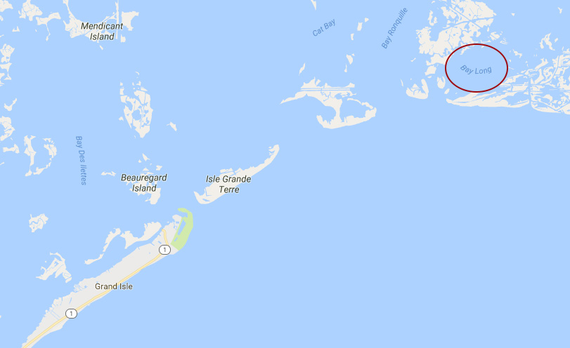 A 5,300-GALLON OIL SPILL WAS REPORTED LAST MONDAY NEAR BAY LONG IN SOUTH LOUISIANA AND IS BEING CLEANED. (GOOGLE MAPS)