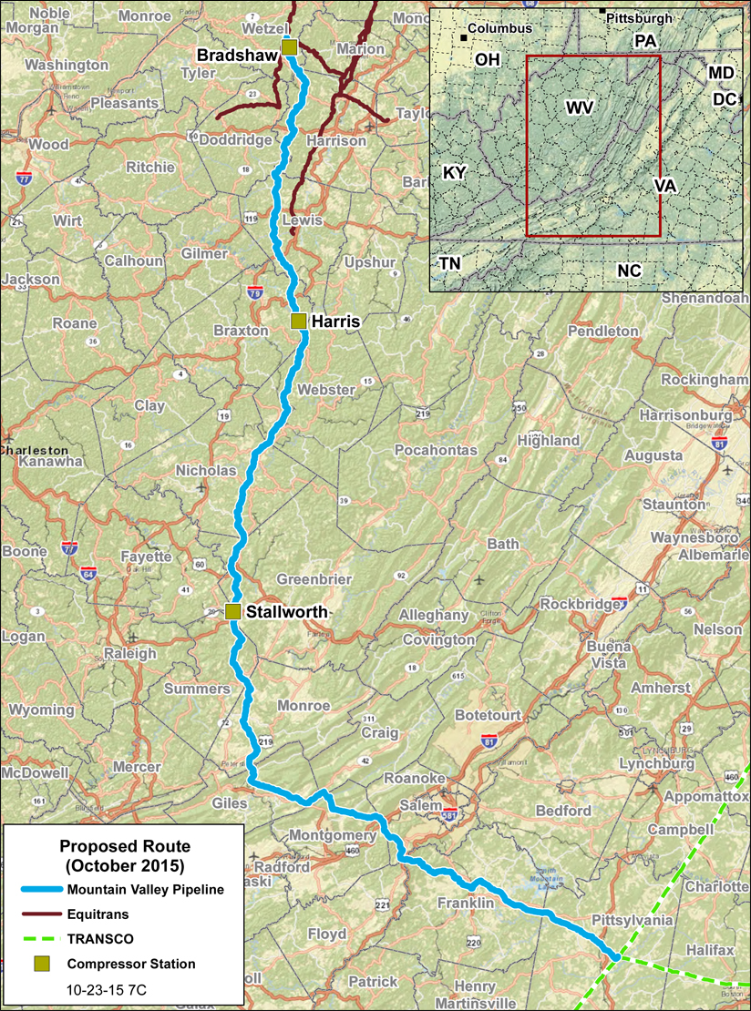Mountain Valley Pipeline Proposed Route ( Mountain Valley Pipeline LLC )