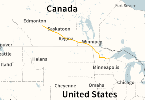 Proposed route of Enbridge's Line 3 Pipeline Replacement Project ( Enbridge )