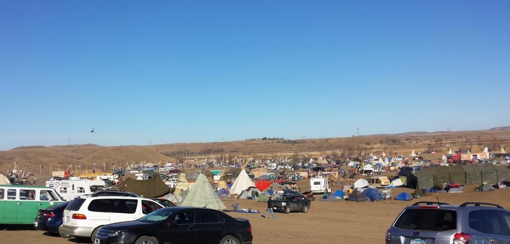 November, 2016: Protestors fighting the Dakota Access Pipeline camp at the Oceti Sakowin camp in southern North Dakota. Photo by  Bill Roach
