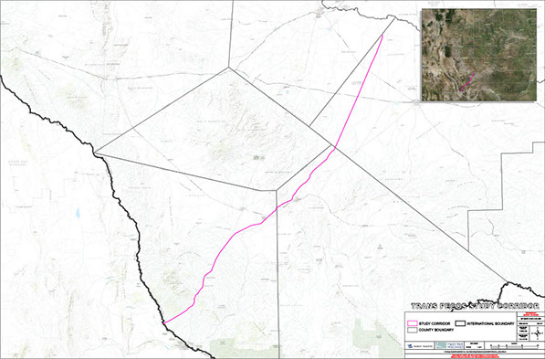 Planned route for Trans-Pecos natural gas pipeline ( Energy Transfer Partners )