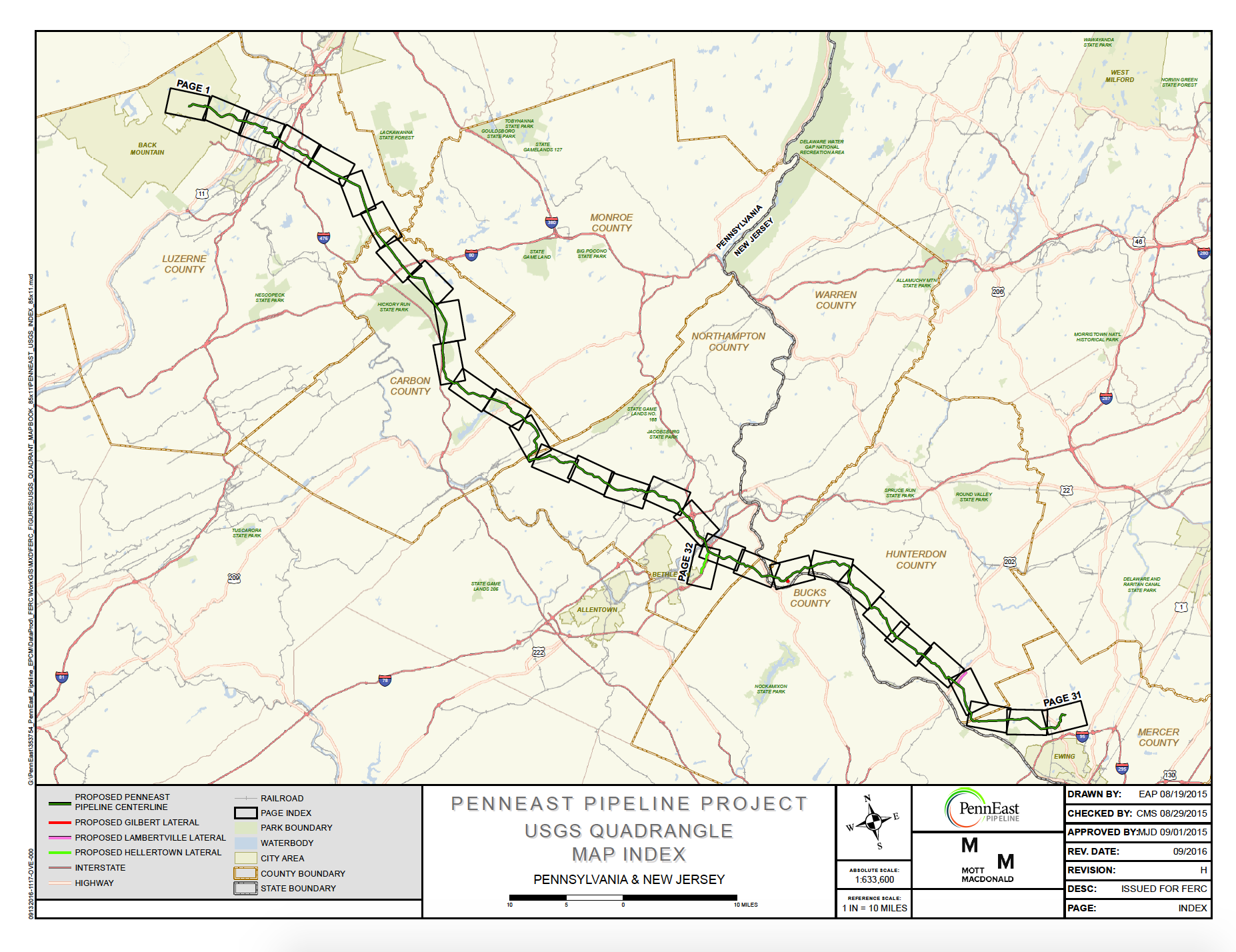 Proposed route overview of PennEast pipeline (  PennEast Pipeline  )