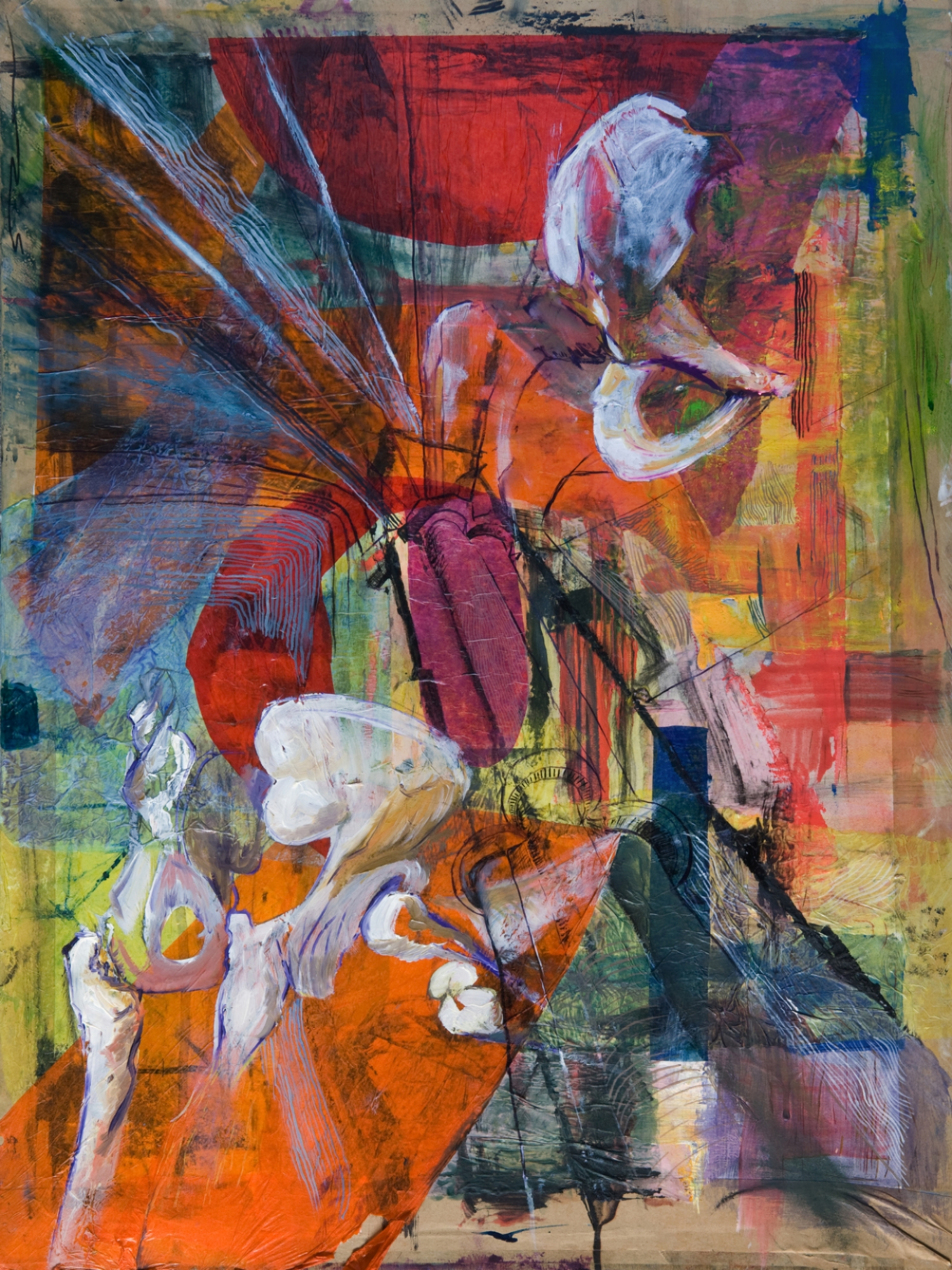 Acetabulofemoral Architecture, mixed media on board, 24in x 16inA