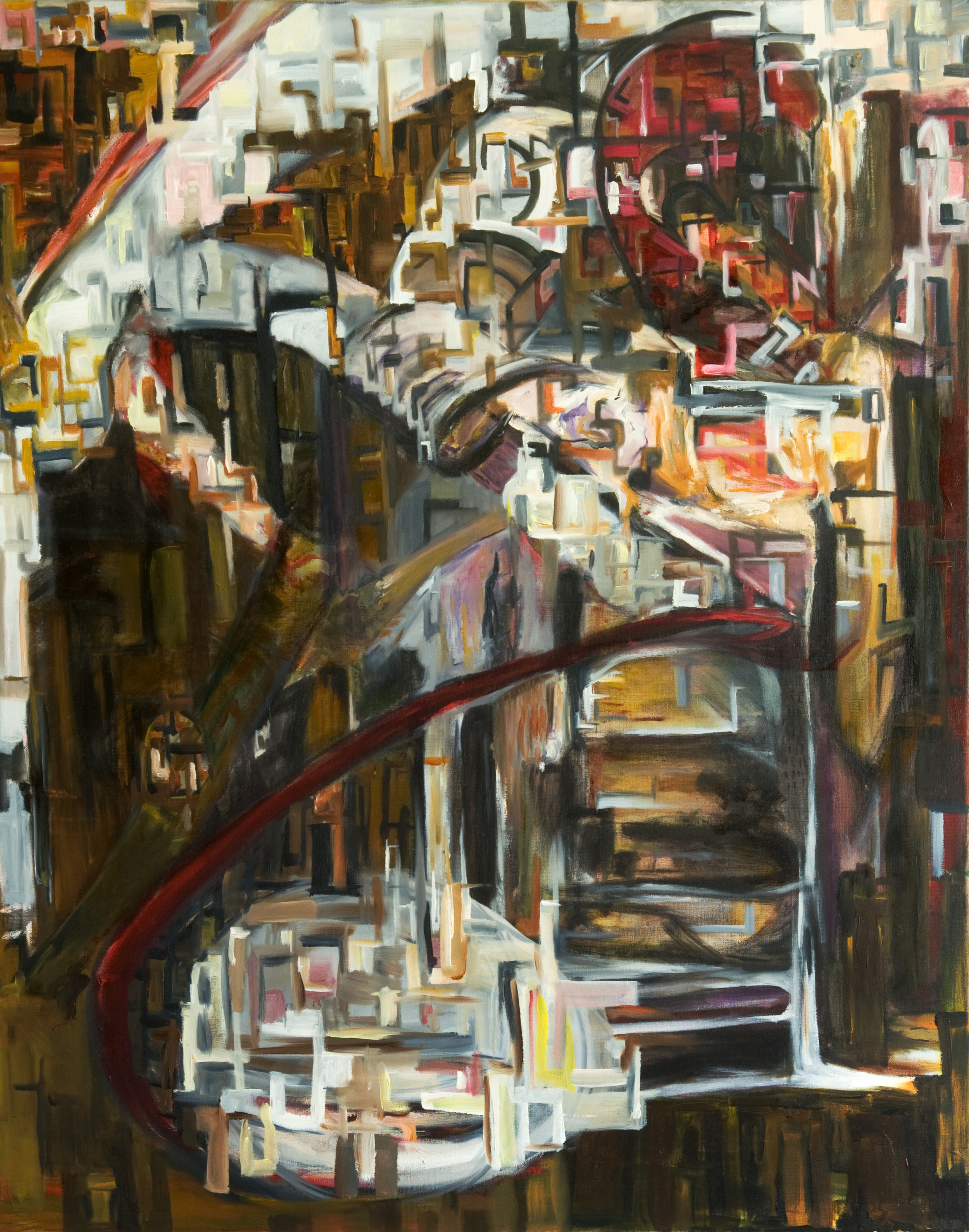 """Of the City, Oil on Canvas, 32"""" x 40"""""""