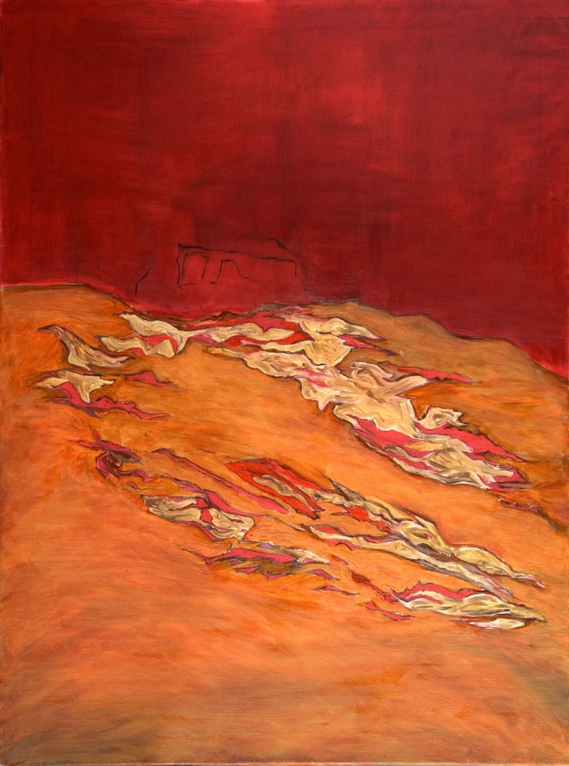 """Redscape, Oil on canvas, 31.5"""" x 23.6"""""""