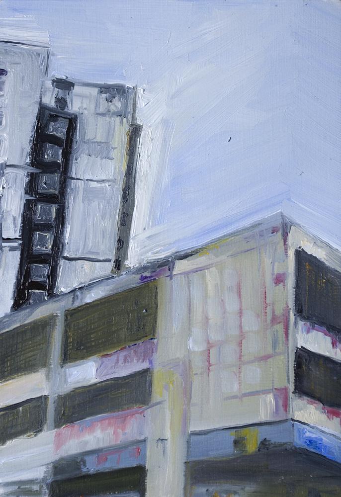 "C2c, Oil on Canvas paper, 10"" x 8"""