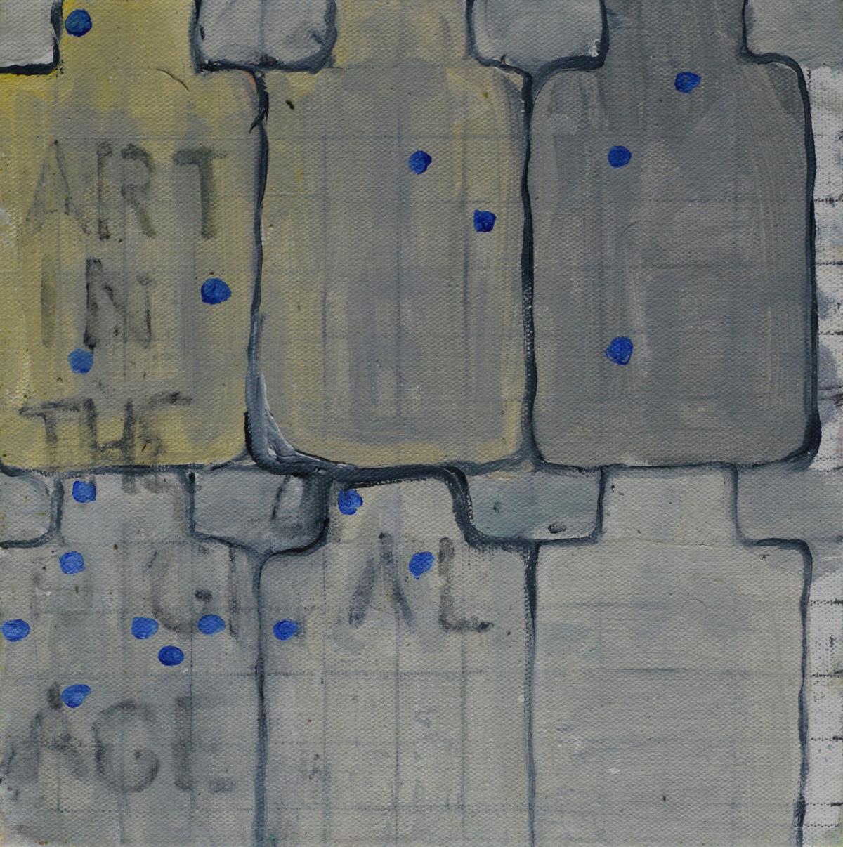 Art in the digital age, 30cm x 30cm,  oil on deep edge canvas
