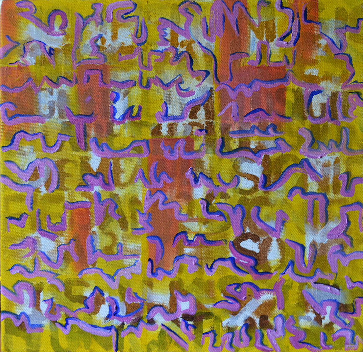 Legibility is not communication, 30cm x 30cm, oil on deep  edge canvas