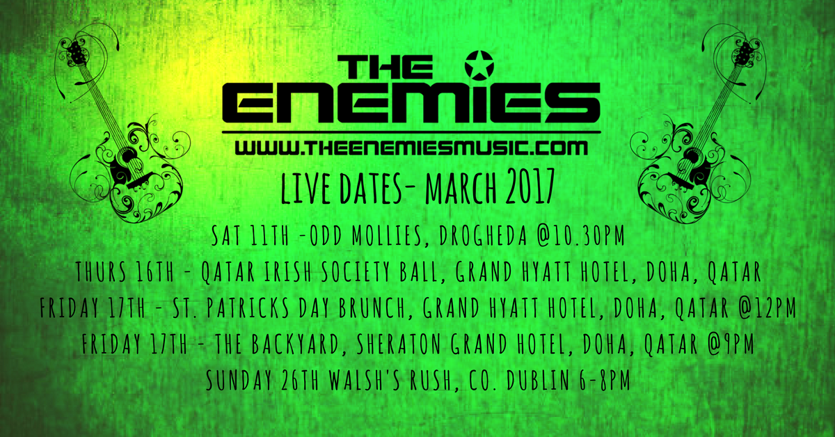 Live dates March 2017