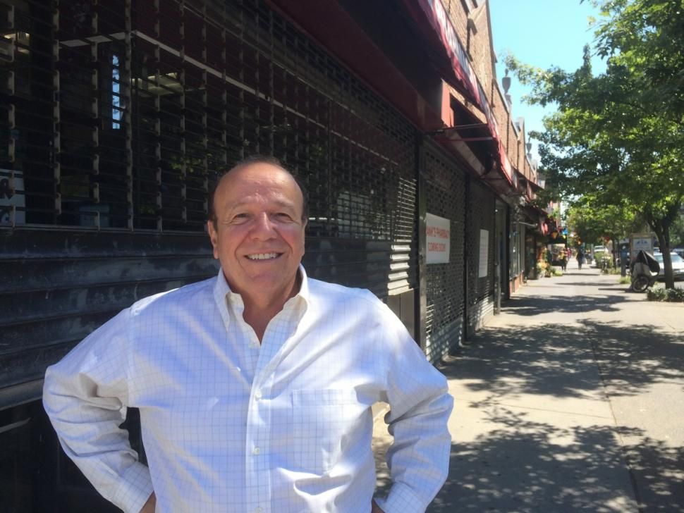 Frank Buonagurio, 60, says he's excited to open his new pharmacy so close to his old one. He says the new store, just two blocks east of the burned building it used to call home, will open in September.
