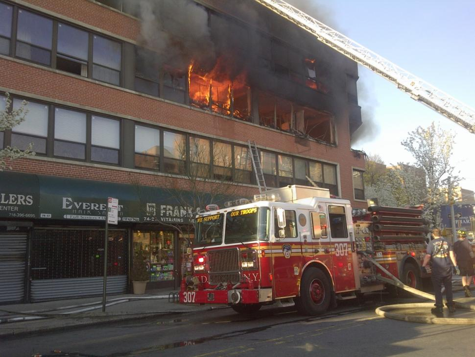 Frank's Pharmacy had been in the Bruson Building for 13 years before this vicious April fire necessitated the evacuation of the entire building.