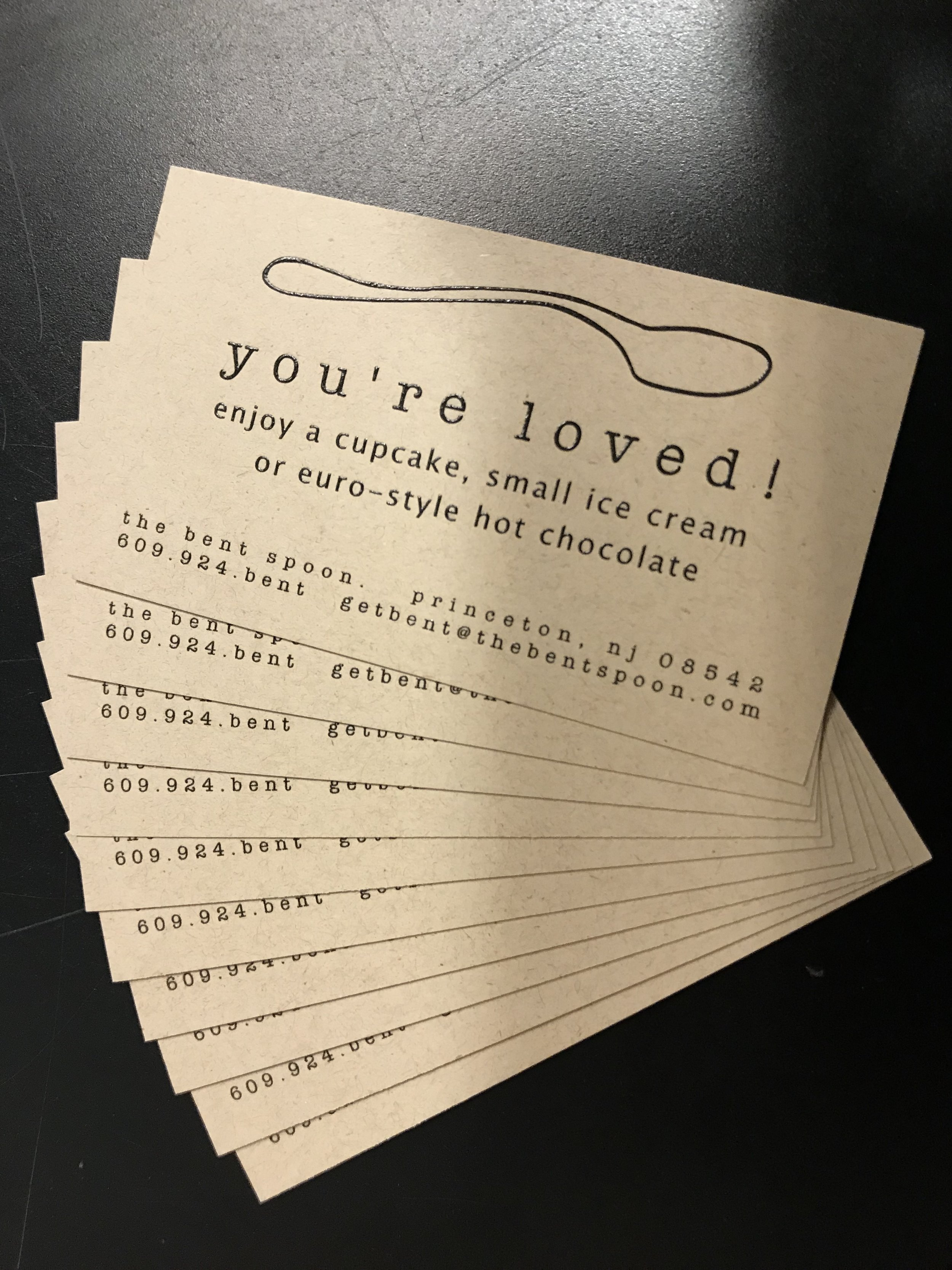 the bent spoon gift cards