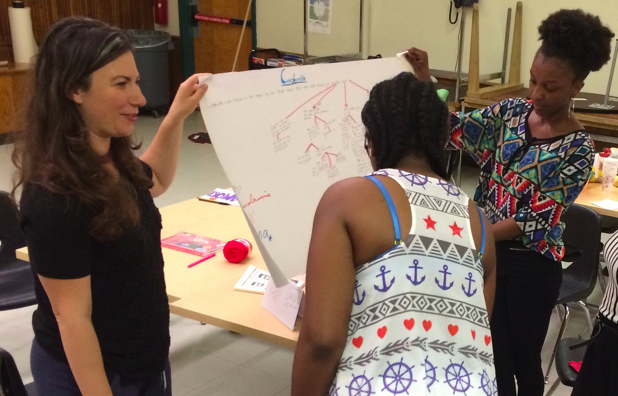 Exploring story structure with teen girls at the Octavia Project