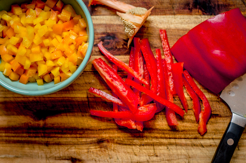 diced red pepper