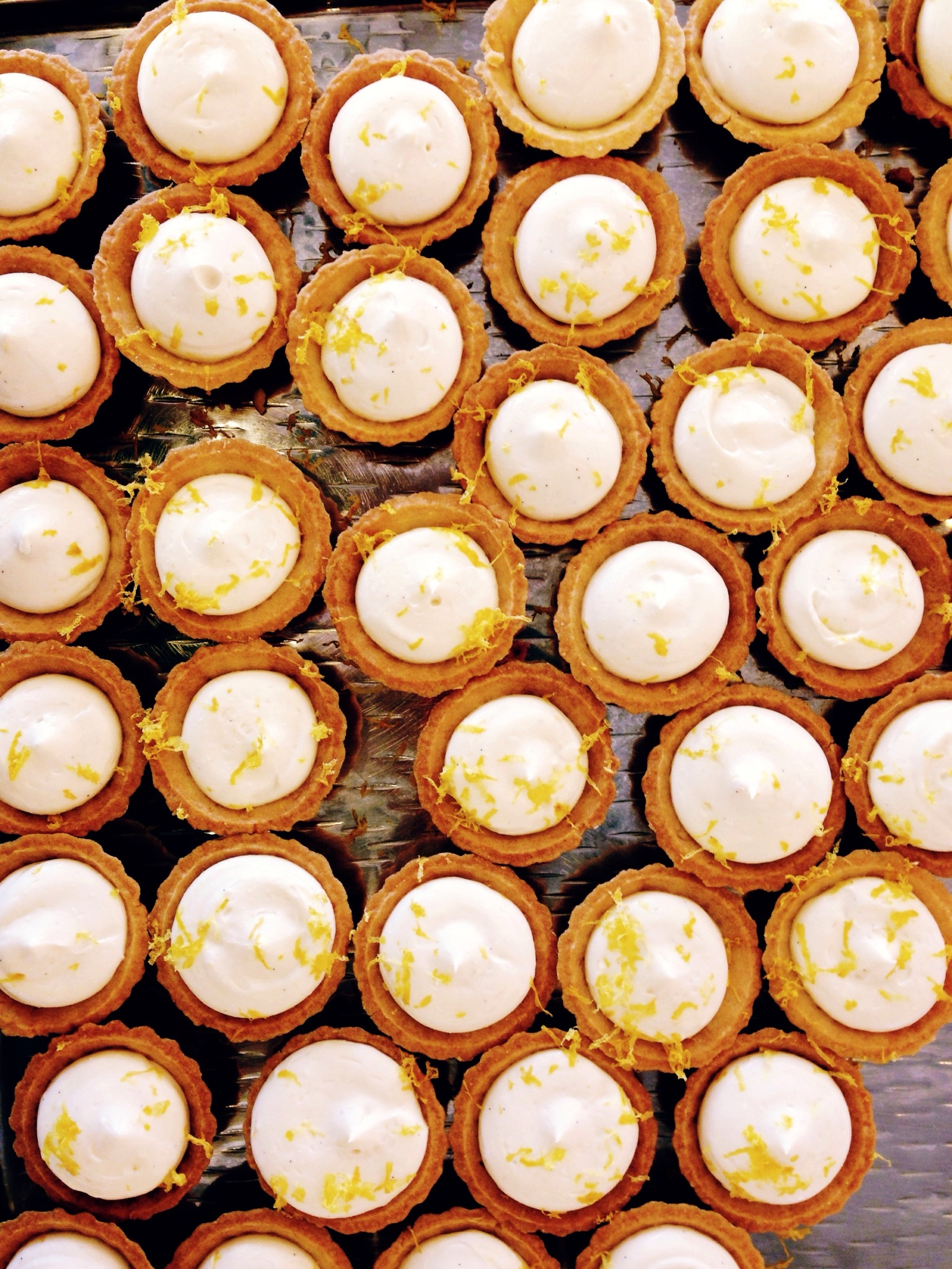 i had no part in making these gorgeous lemon-ricotta cheesecake bites. they're all our pastry chef's creation.