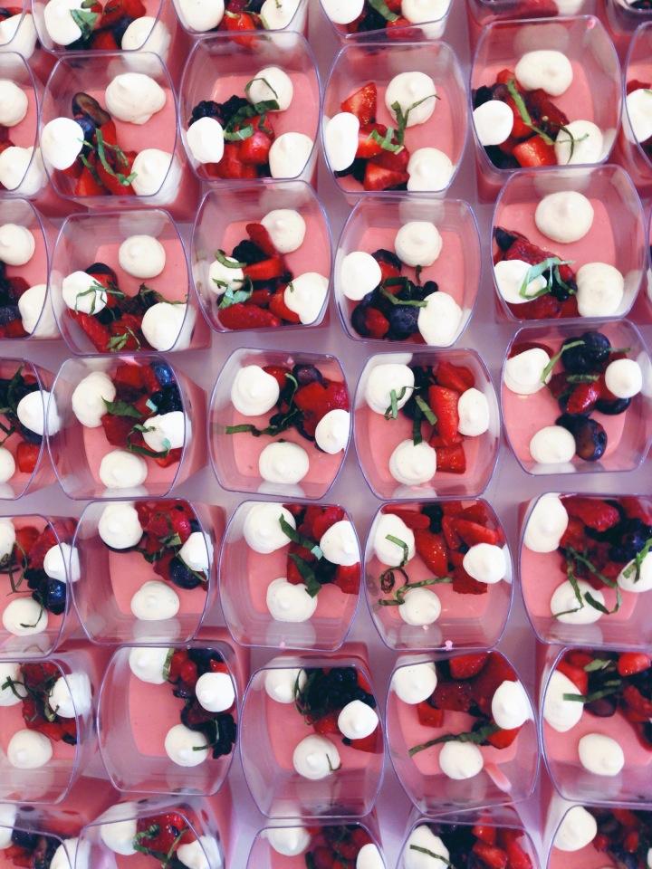 raspberry pannacotta