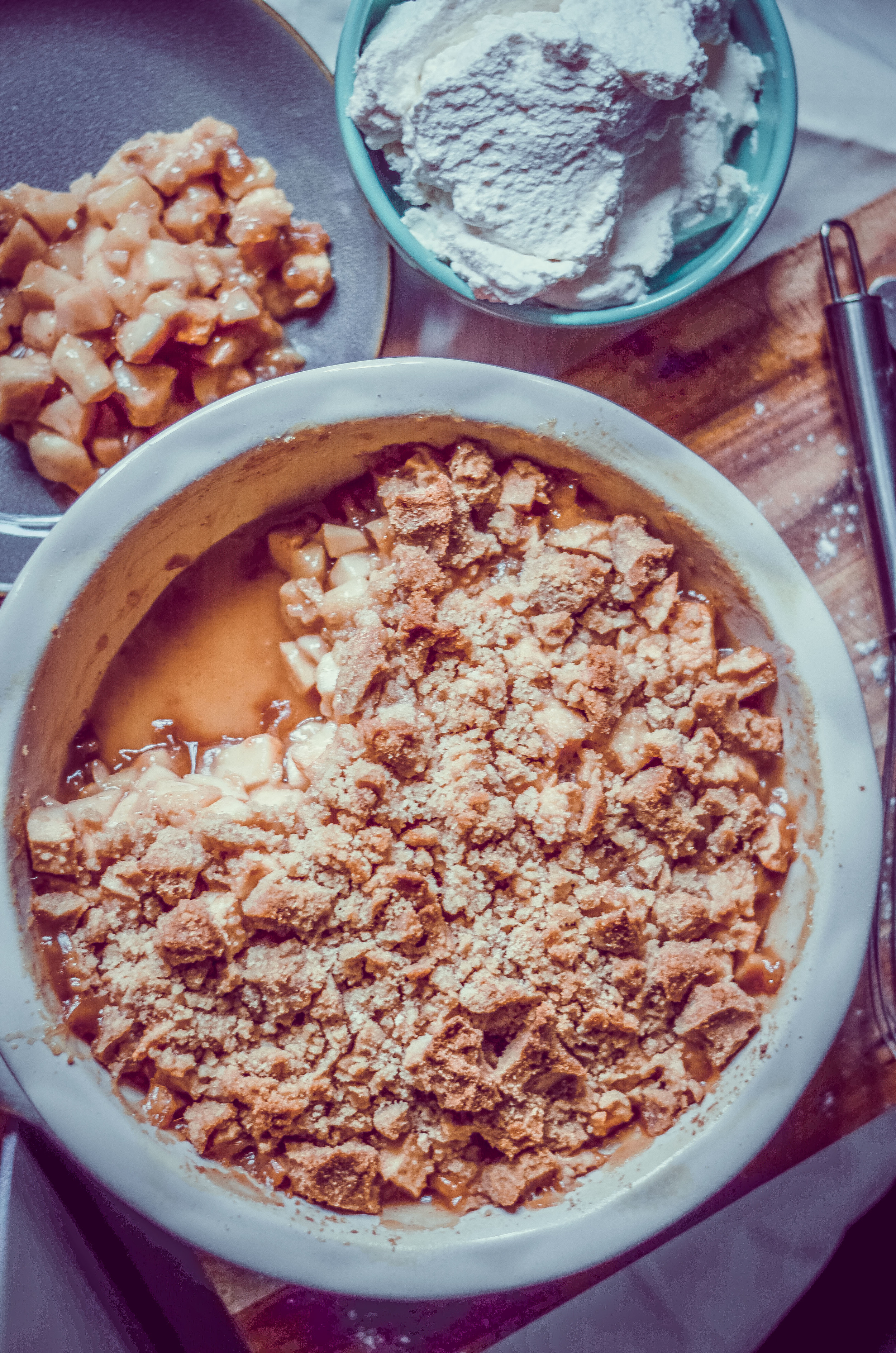 whiskey apple crisp