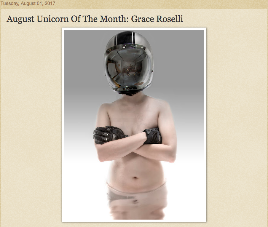 """""""August Unicorn of the Month: Grace Roselli"""" by Jeff Musser"""