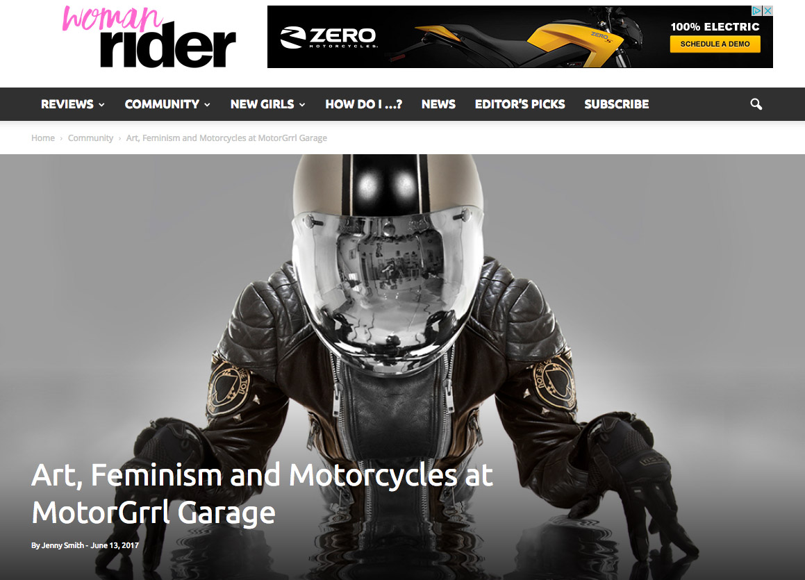 """""""Art, Feminism and Motorcycles at MotorGrrl Garage"""" by Jenny Smith"""