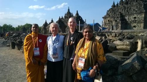 From the left: Bangladeshi bhikkhuni, Jayanta Johannesen, Rev. Konin Cardenas, Ranjani De Silva
