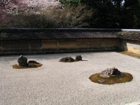 Ryoanji garden in Kyoto, Japan