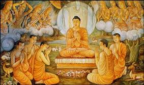 The Buddha teaching at Sarnath