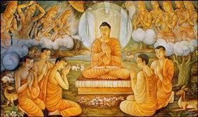 The Buddha teaching at Sarnath