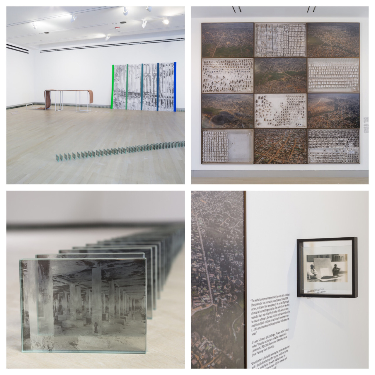 Installation views from Logan Gallery at University of Chicago last month. The exhibition: So-called Utopias with work by Jonathas de Andrade, Sammy Baloji, Latoya Ruby Frazier, Sreshta Rit Premnath and Melanie Smith. Curated by Yesomi Umolu ©Clare Britt Photo #logancenterforthearts #uofchicago #utopia #chicagoart