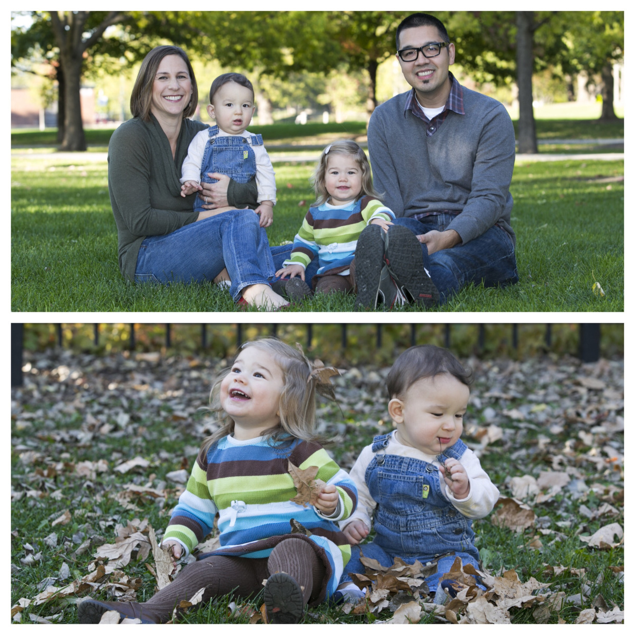 Fun Fall Family Photos with The Manabat's in Portage Park.  ©ClareBrittPhoto