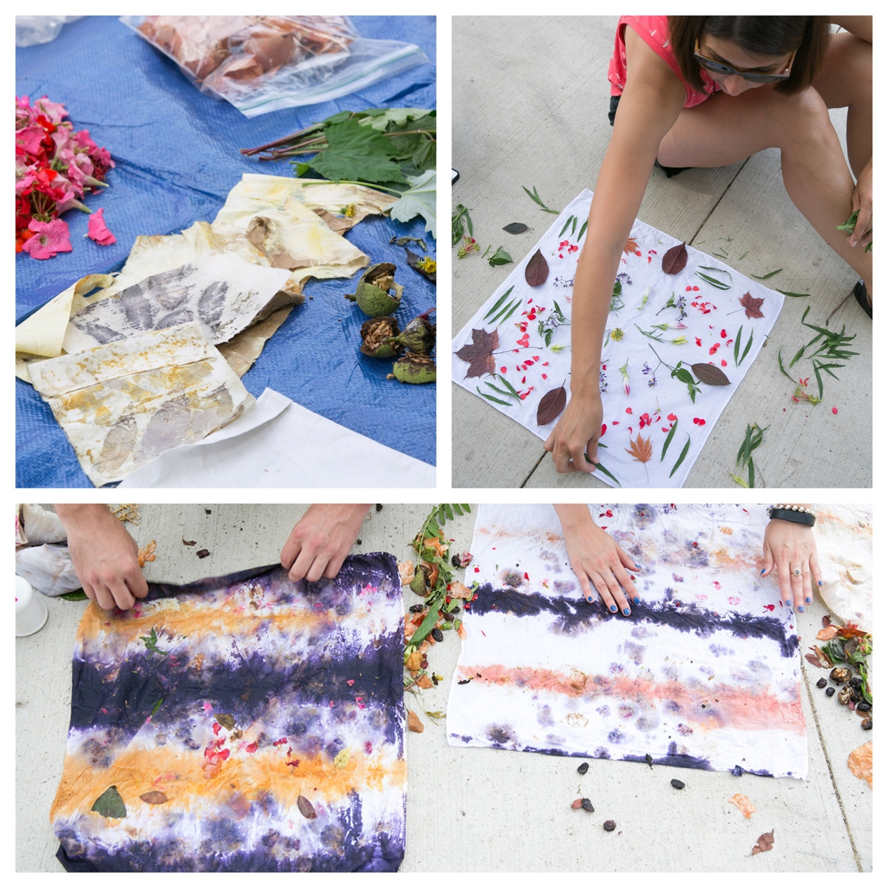 Photos from the Natural Dye Workshop at Julia De Burgos Park with Marianne Fairbanks and Gallery 400 Summer 2015. Images by Nancy Behall for ©Clare Britt Photo