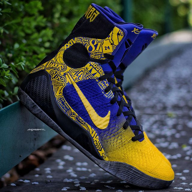 Since it's still Mamba Day. Decided to post the pair I made for @kobebryant last NBA game aka the original Mamba Day back in 2016. #mambaout