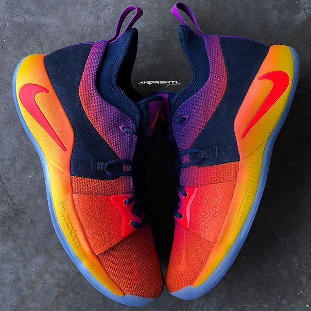 """Another PG2 PE custom designed for @solohill. This pair was designed with a summer sunset/sunrise colorway to honor his daughter """"Summer"""". Adding some subtle detailing of her name and birthday to set them off right.  Side note all relevant emails/DMs will be answered later today apologize to those waiting on responses been wildly busy the last few weeks. #whatsyourflavor"""