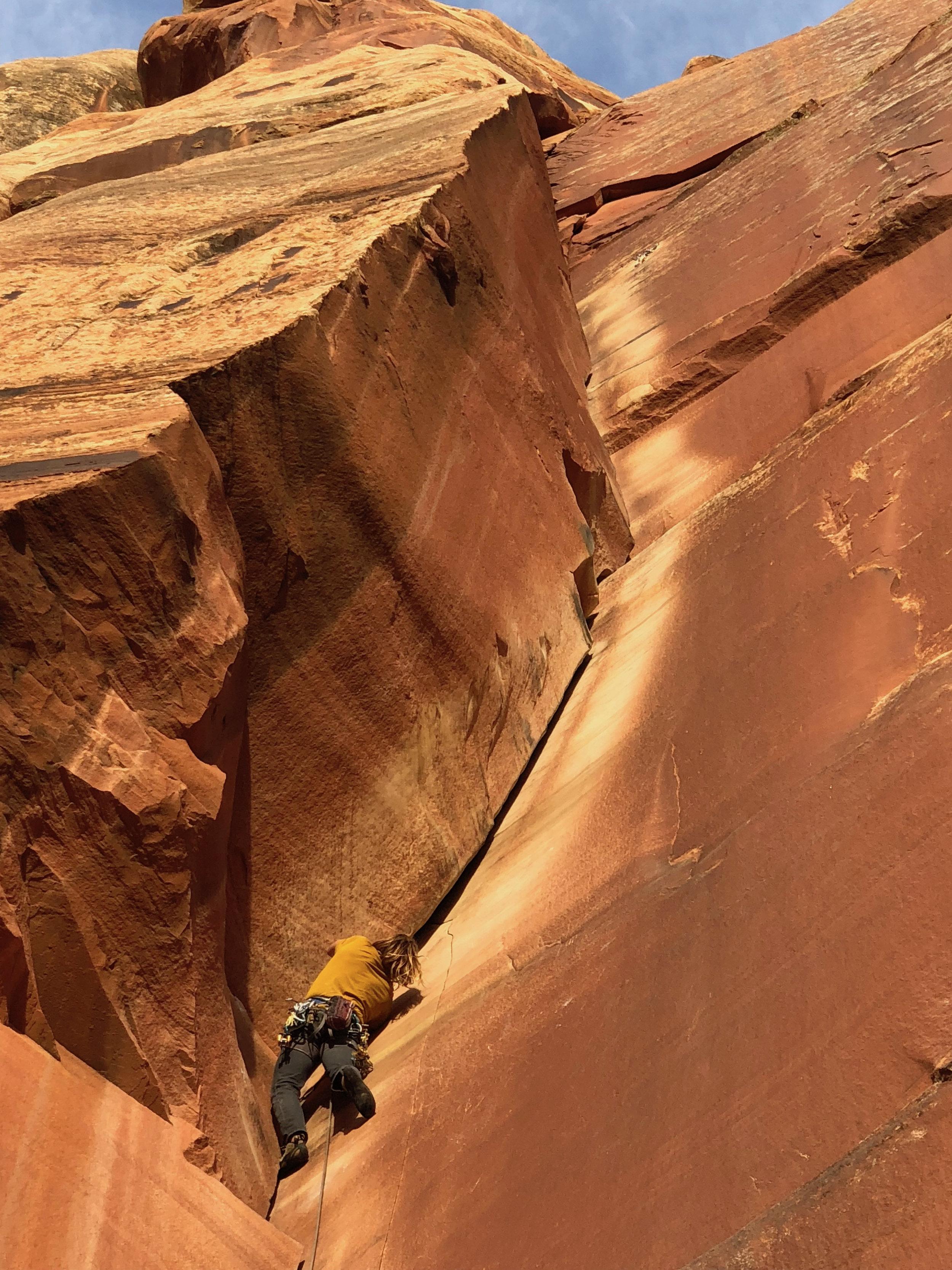 """""""Incredible Hand Crack"""" 5.10 - Indian Creek, Utah"""