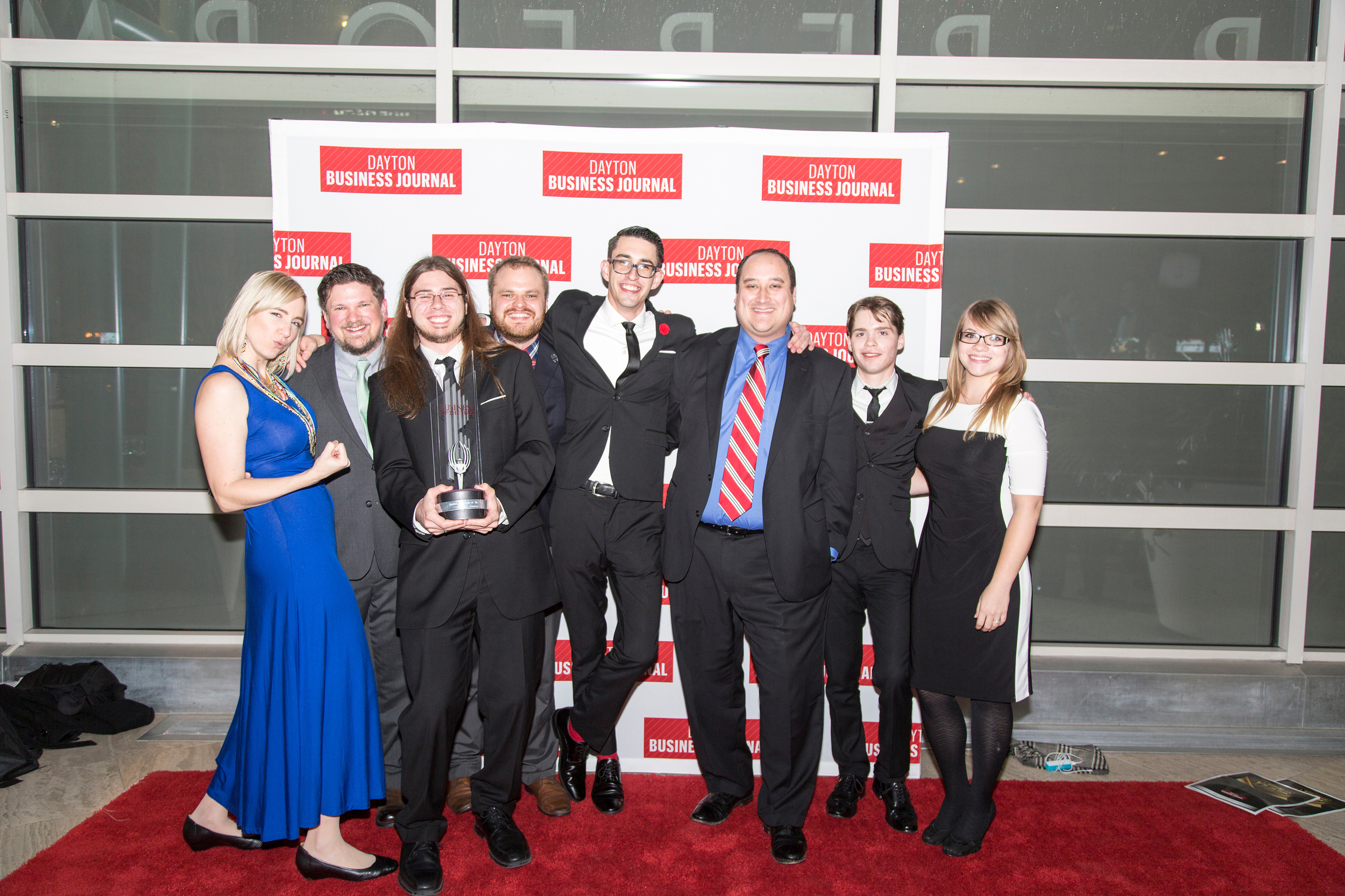 """Catapult Creative and I after they just WON the 2014 Dayton Business Journal's """"Rookie Business of the Year"""" Award"""