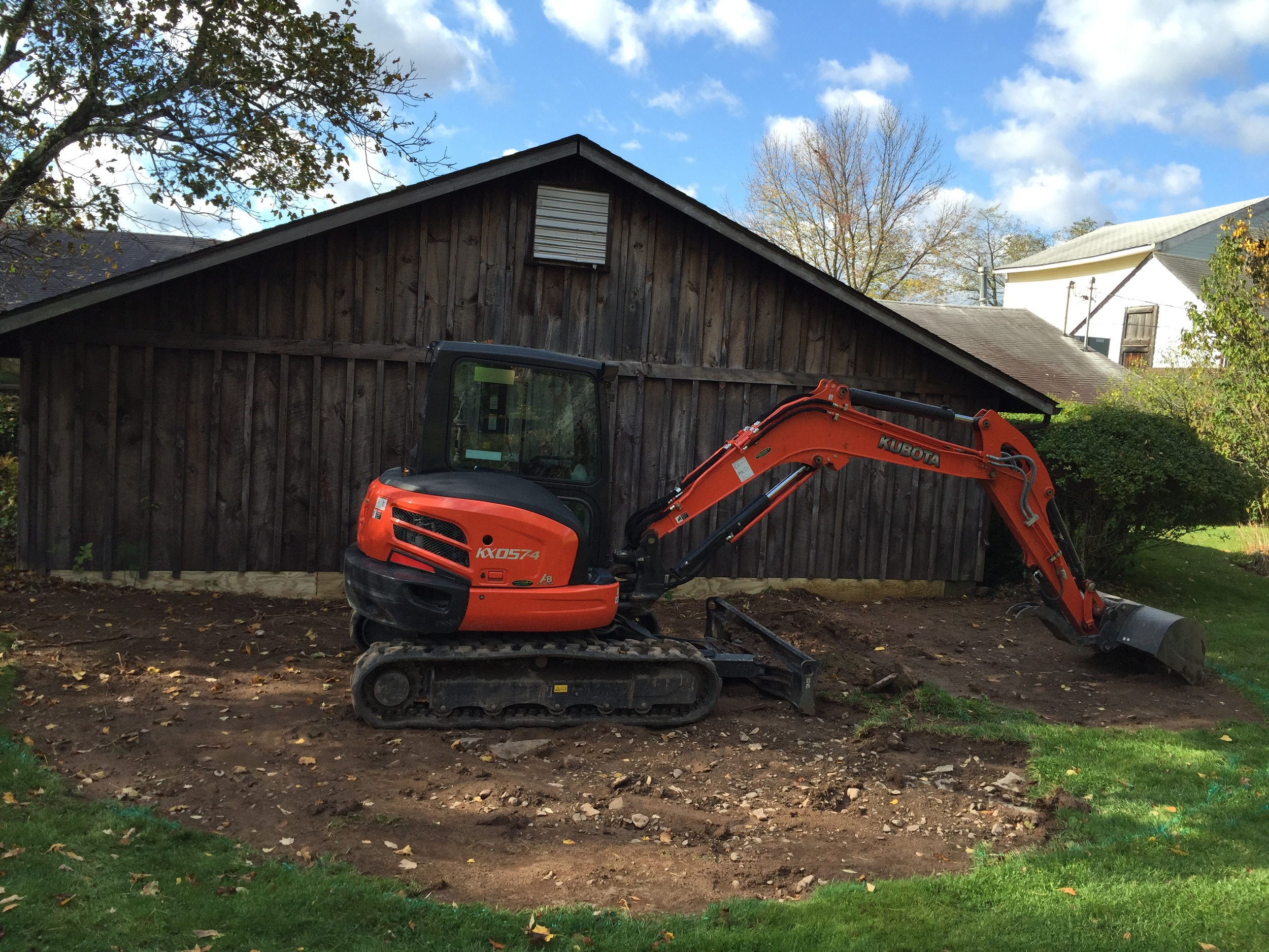 Breaking Ground for our NEW Patio Space!