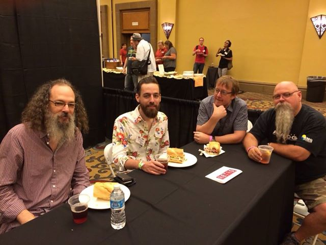 Andrew Scheps, Matt Ross-Spang, Michael Romanowski, Vance Powell created their own lunch panel. Potuck 2014