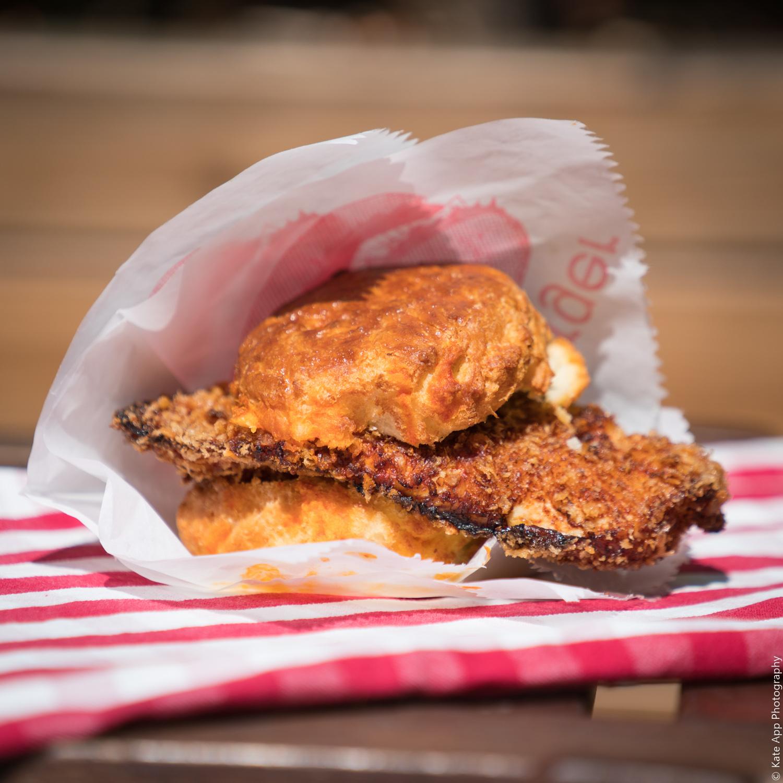 Southern Fried Chicken Burger on a Handmade Buttermilk Biscuit Bun.jpg