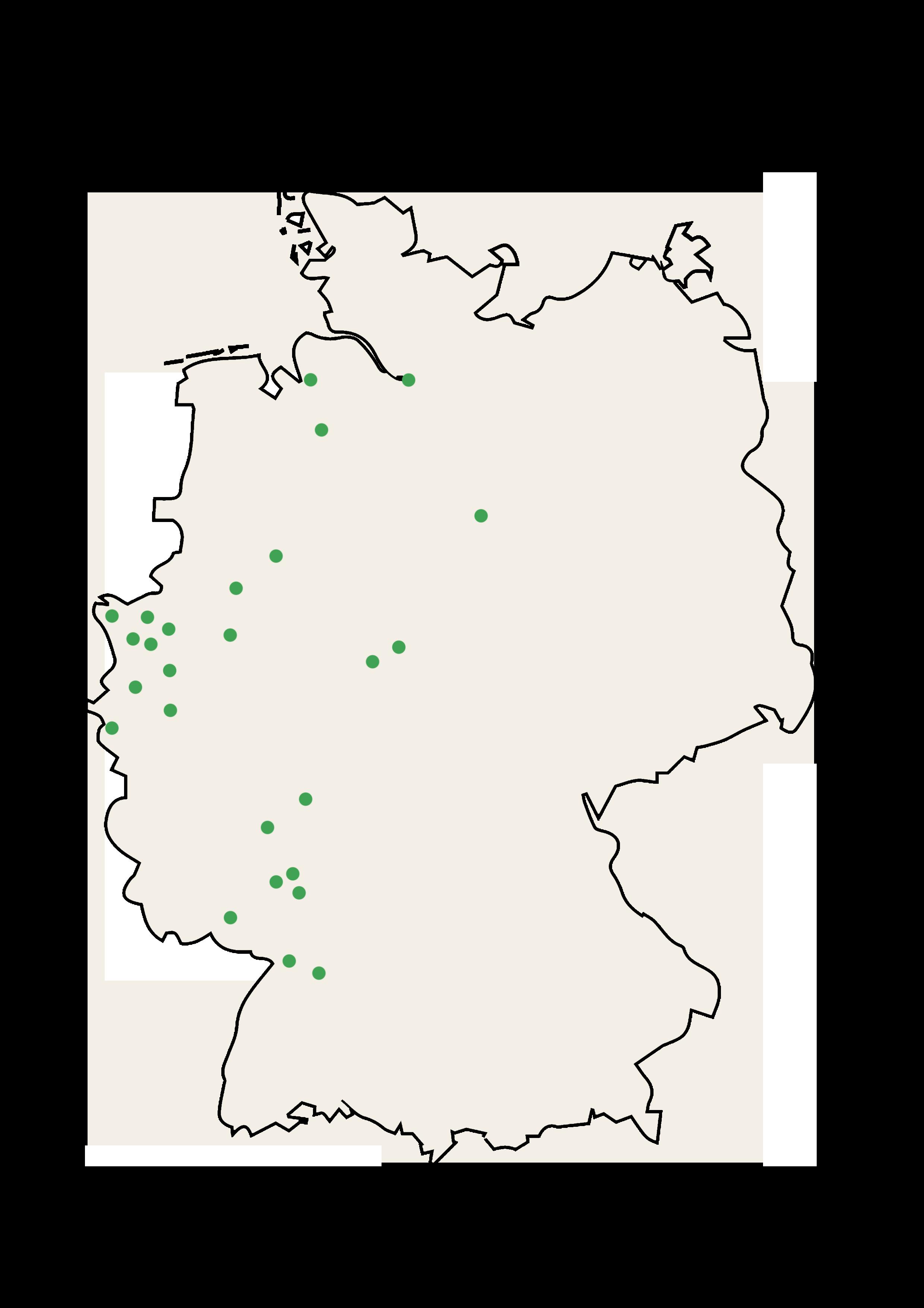 Street Food Festivals Deutschlandweit Deutschlandkarte mit Stecknadeln