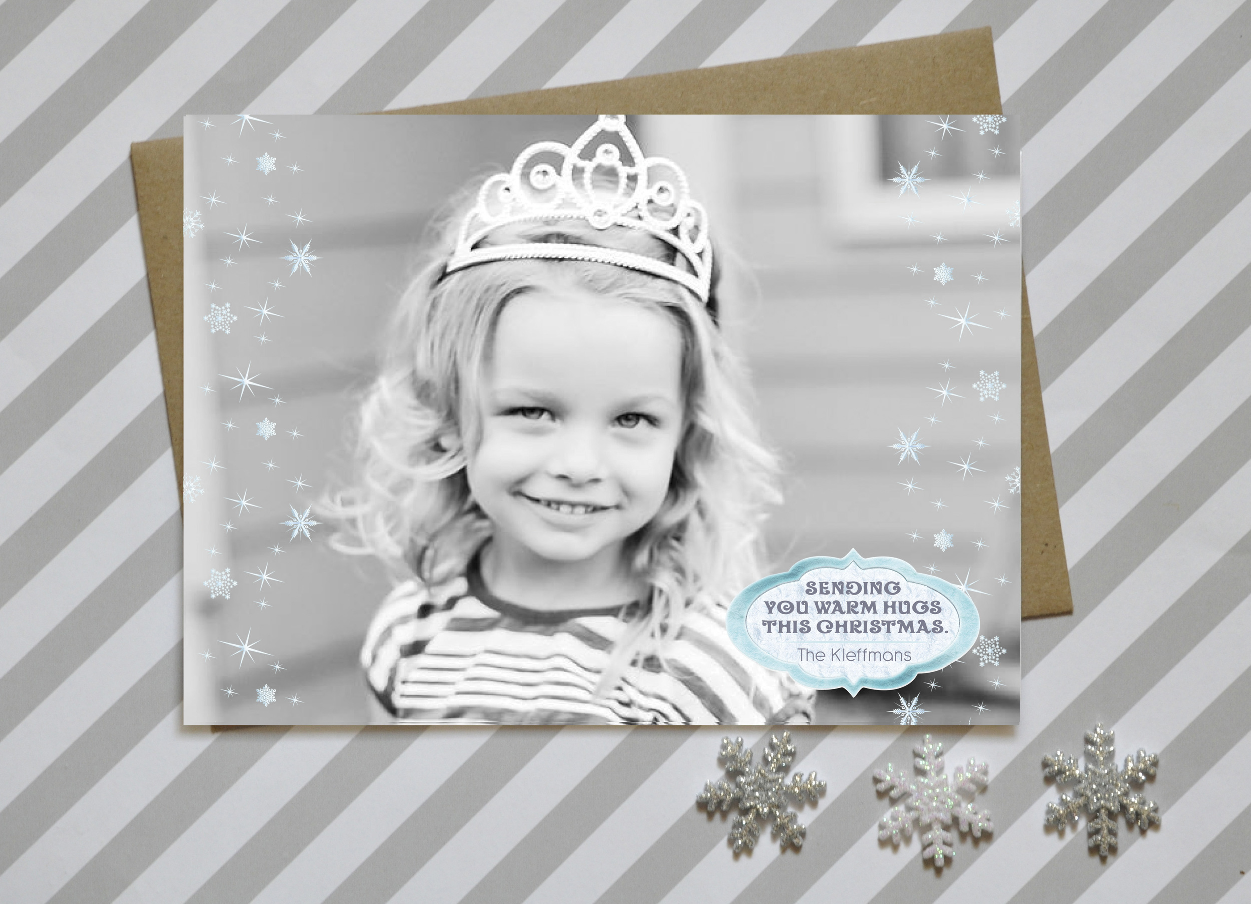 Frozen Christmas Card