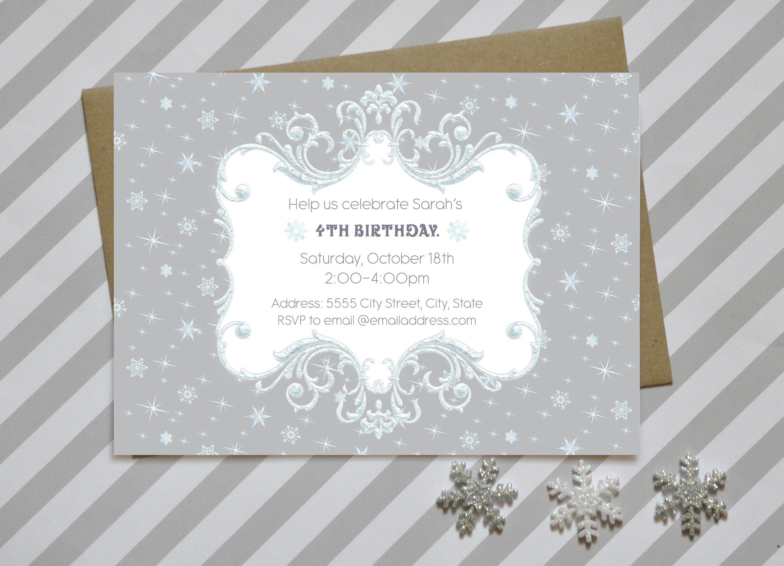 Frozen Birthday Invite