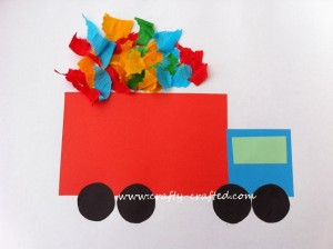 http://www.crafty-crafted.com/paper-crafts/basic-shapes-dump-truck/