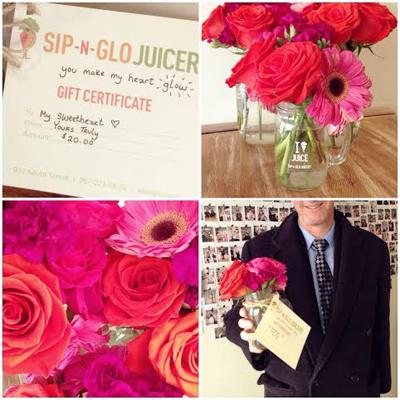 Sip-N-Glo Is Offering Valentine's Day Juice Grams
