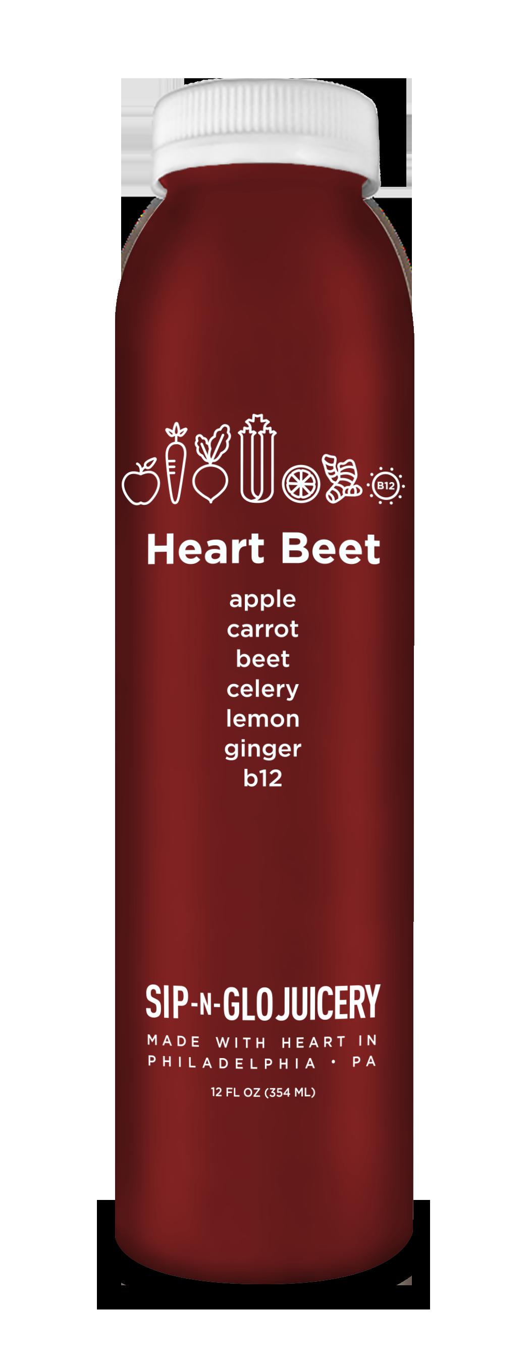 Sip-N-Glo Cold-Pressed Juice Heart Beet
