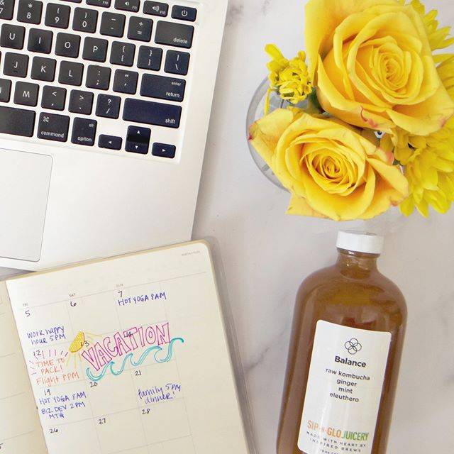 Our summer calendars are always jammed packed with activities. Don't forget to do the things that help you feel balanced and connected with yourself. Our Balance kombucha is carefully crafted with our friends at @InspiredBrews for a healthy mind/body balance.      #sipnglo #sipnglojuicery #balance #kombucha #adaptogens #eleuthero #healthyhabits #inspiredbrews