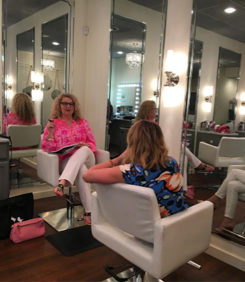 I interviewed Shannon Kessler, owner of Louisville's Primp Style Lounge, for the Kentucky Derby Book. {Photo © Cathy Shircliff of Shircliff Publishing.}