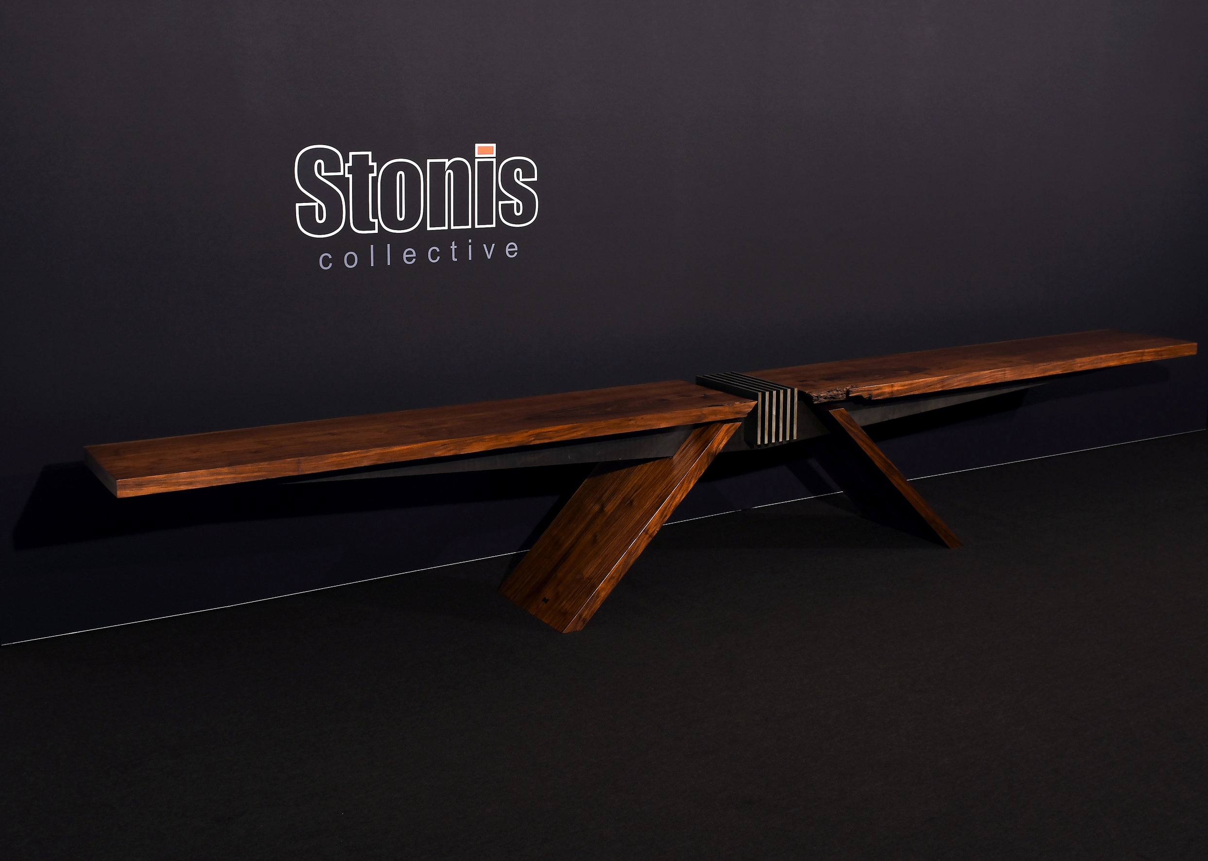 "Materials: Walnut and Steel     Slab Thickness: 2""     Size (  LxWxH  ): 178""x19""x27""     Weight: 426 lbs  ."