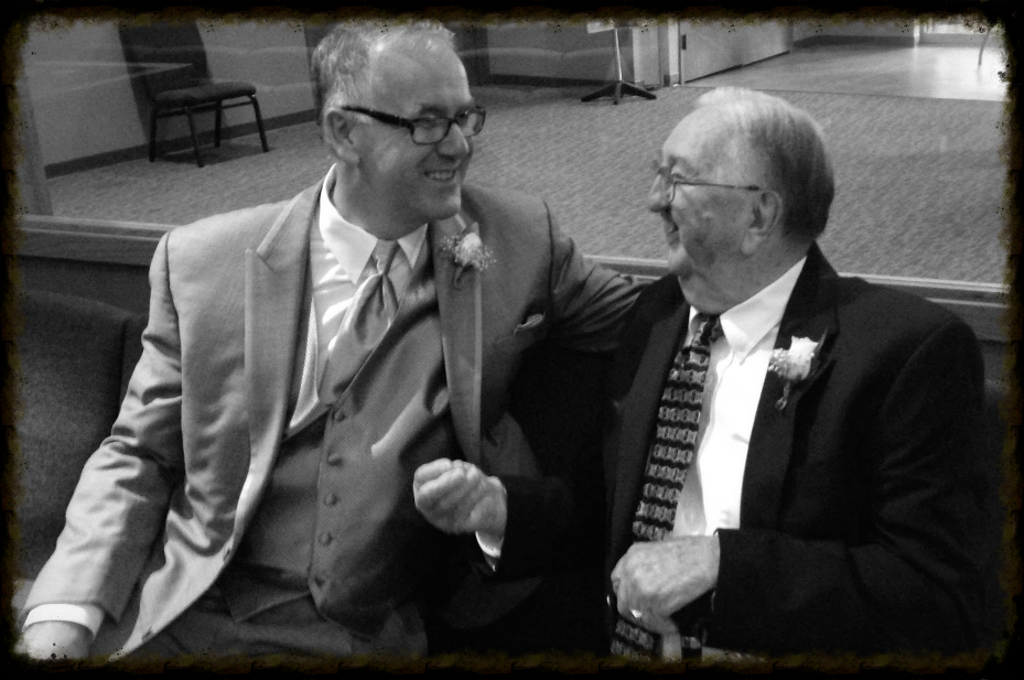 A golden opportunity for me to talk face-to-face with the best dad-in-law ever. And I'm sure we weren't talking about technology!