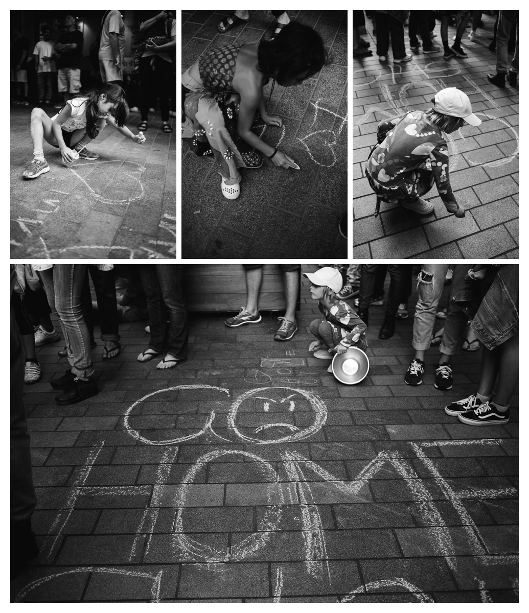 Greenpeace New Zealand stop deep sea oil protest black and white children photography