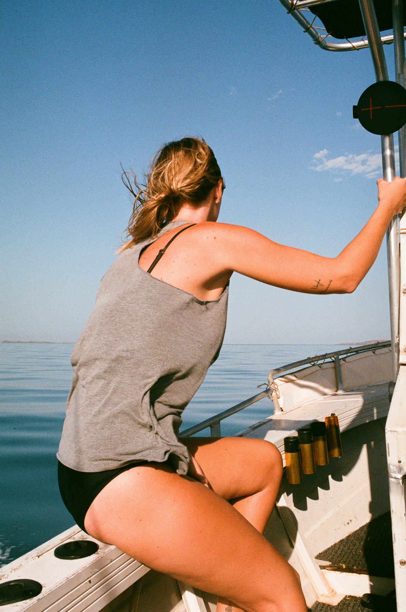Jackie at Sea