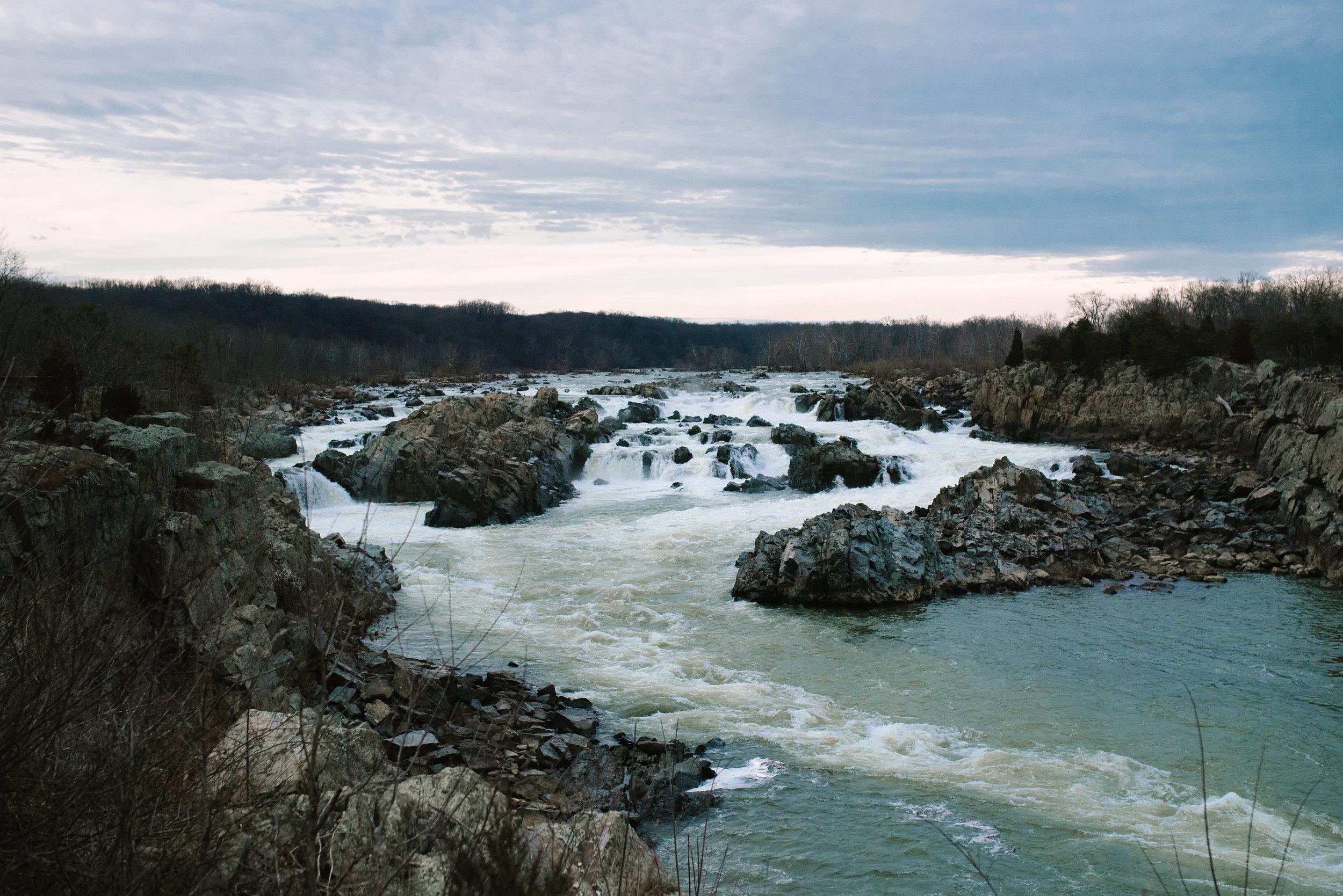 beautiful photo of Great Falls Park, VA landscape